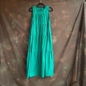 WHO WHAT WEAR maxi Kelly green 100% cotton dress